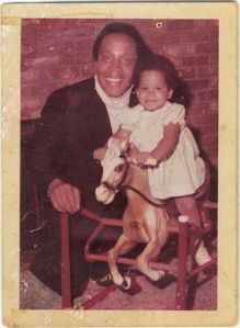 Francine with father Frank Lucas